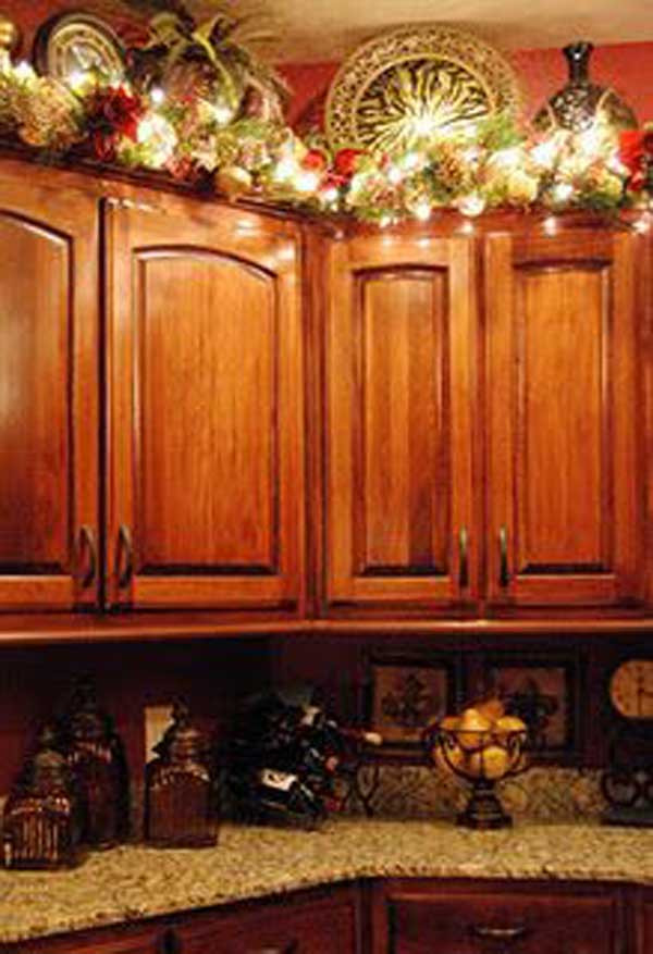 Kitchen Cabinet Christmas Decorating Ideas  24 Fun Ideas Bringing The Christmas Spirit into Your Kitchen