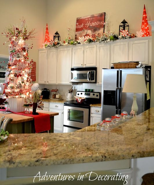 Kitchen Cabinet Christmas Decorating Ideas  1000 ideas about Cabinet Decor on Pinterest