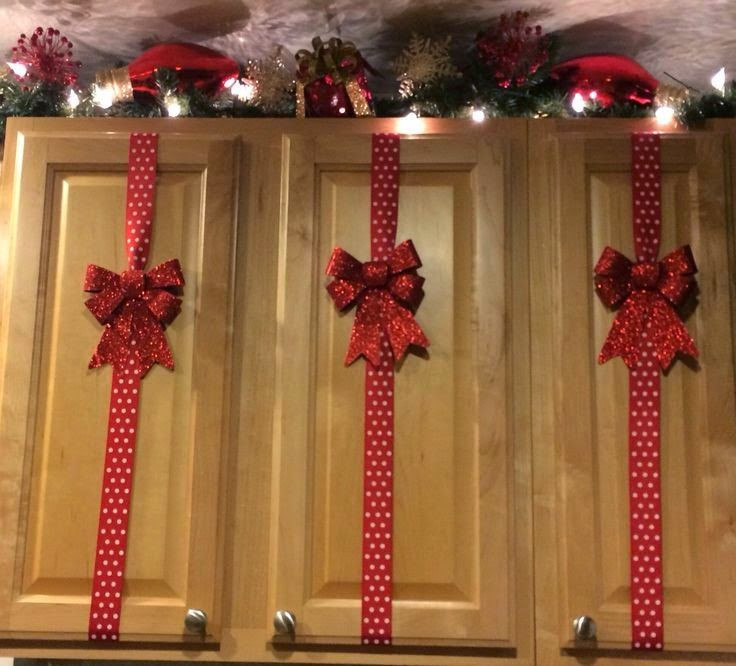 Kitchen Cabinet Christmas Decorating Ideas  Pin by Marta Hooker on My Craft board Christmas