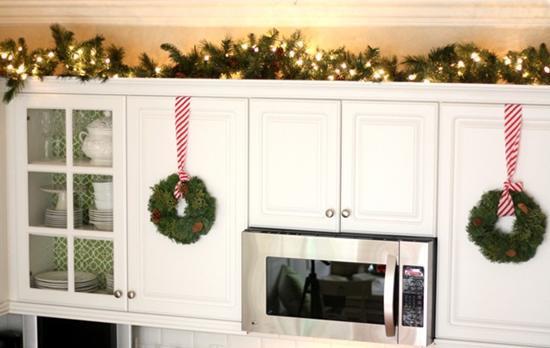 Kitchen Cabinet Christmas Decorating Ideas  10 Kitchen Christmas Decoration Ideas Elena Arsenoglou