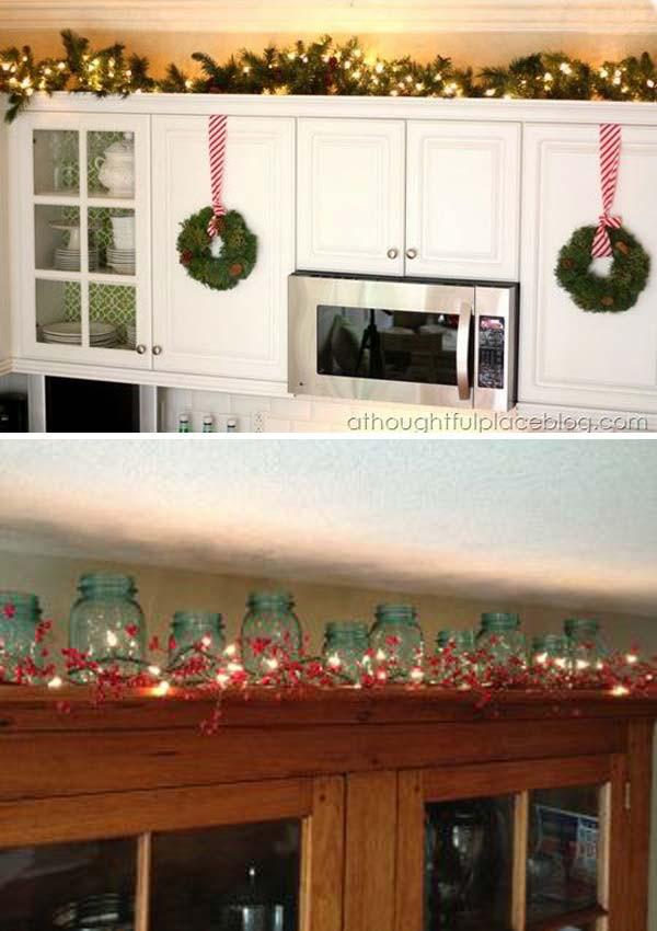 Kitchen Cabinet Christmas Decorating Ideas  20 Stylish and Bud friendly Ways to Decorate
