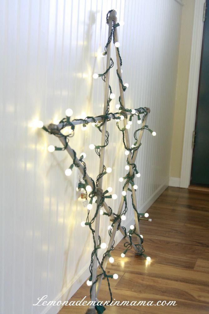 Lighted Christmas Decorations Indoor  Best 25 Star christmas lights ideas on Pinterest