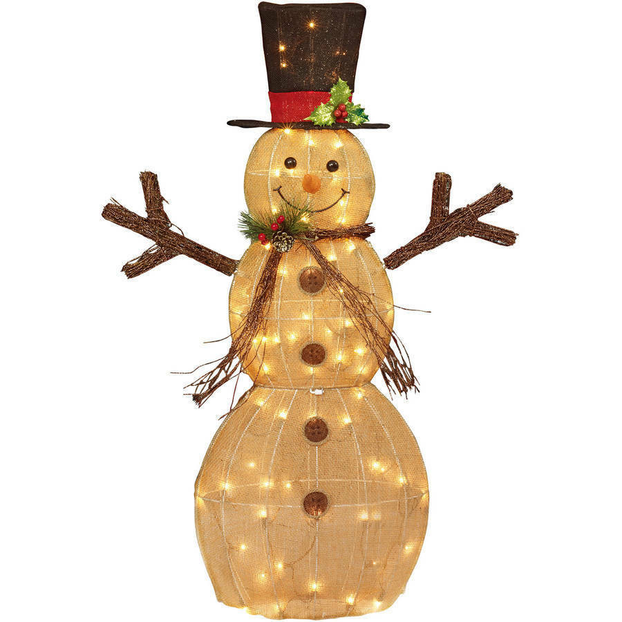 """Lighted Christmas Decorations Indoor  Christmas Decor Lighted Snowman 48"""" Indoor Outdoor Yard"""