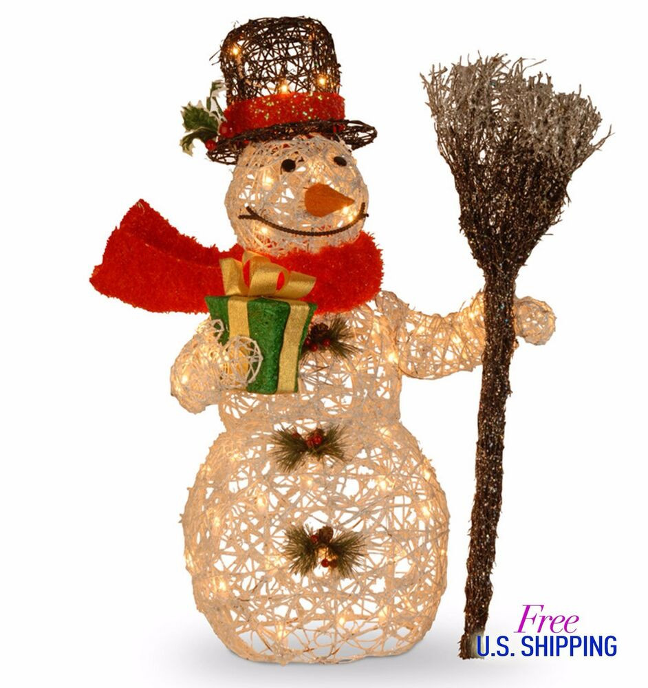 Lighted Christmas Decorations Indoor  Lighted Snowman Christmas Glitter Indoor Outdoor Holiday