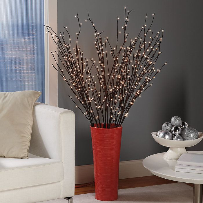Lighted Christmas Decorations Indoor  Best 25 Lighted branches ideas on Pinterest