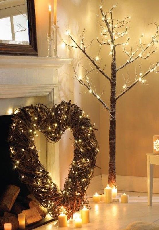 Lighted Christmas Decorations Indoor  21 Indoor Christmas Lights Decoration Ideas Feed Inspiration