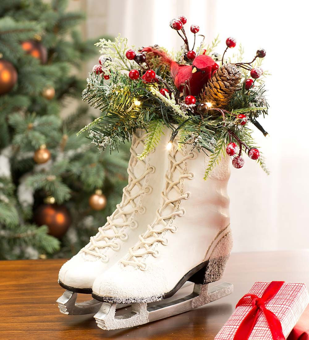 Lighted Christmas Decorations Indoor  Lighted Ice Skate Holiday Décor