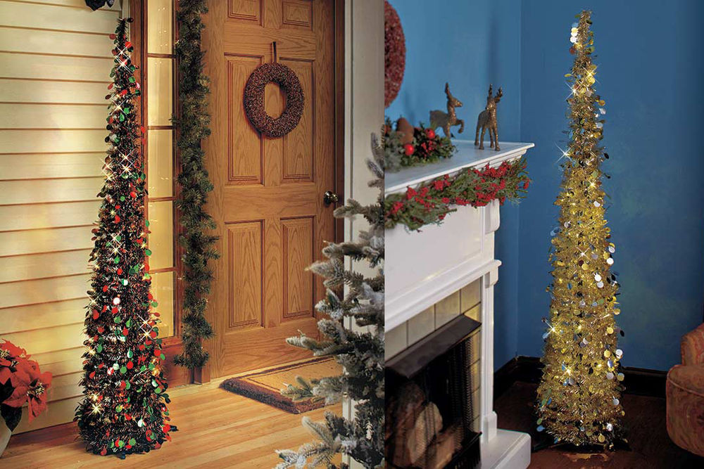 """Lighted Christmas Decorations Indoor  65"""" Lighted Christmas Tree Holiday Lights Indoor Outdoor"""