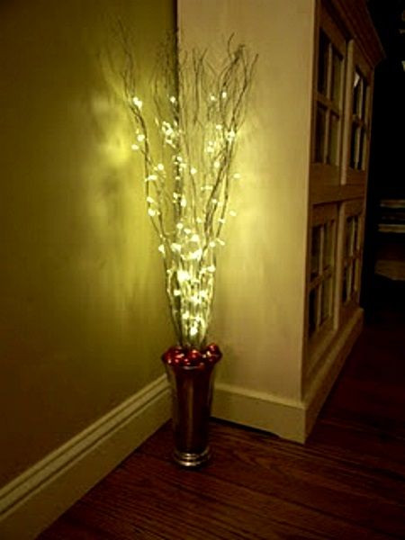 Lighted Christmas Decorations Indoor  356 best images about trees twigs & branches on Pinterest