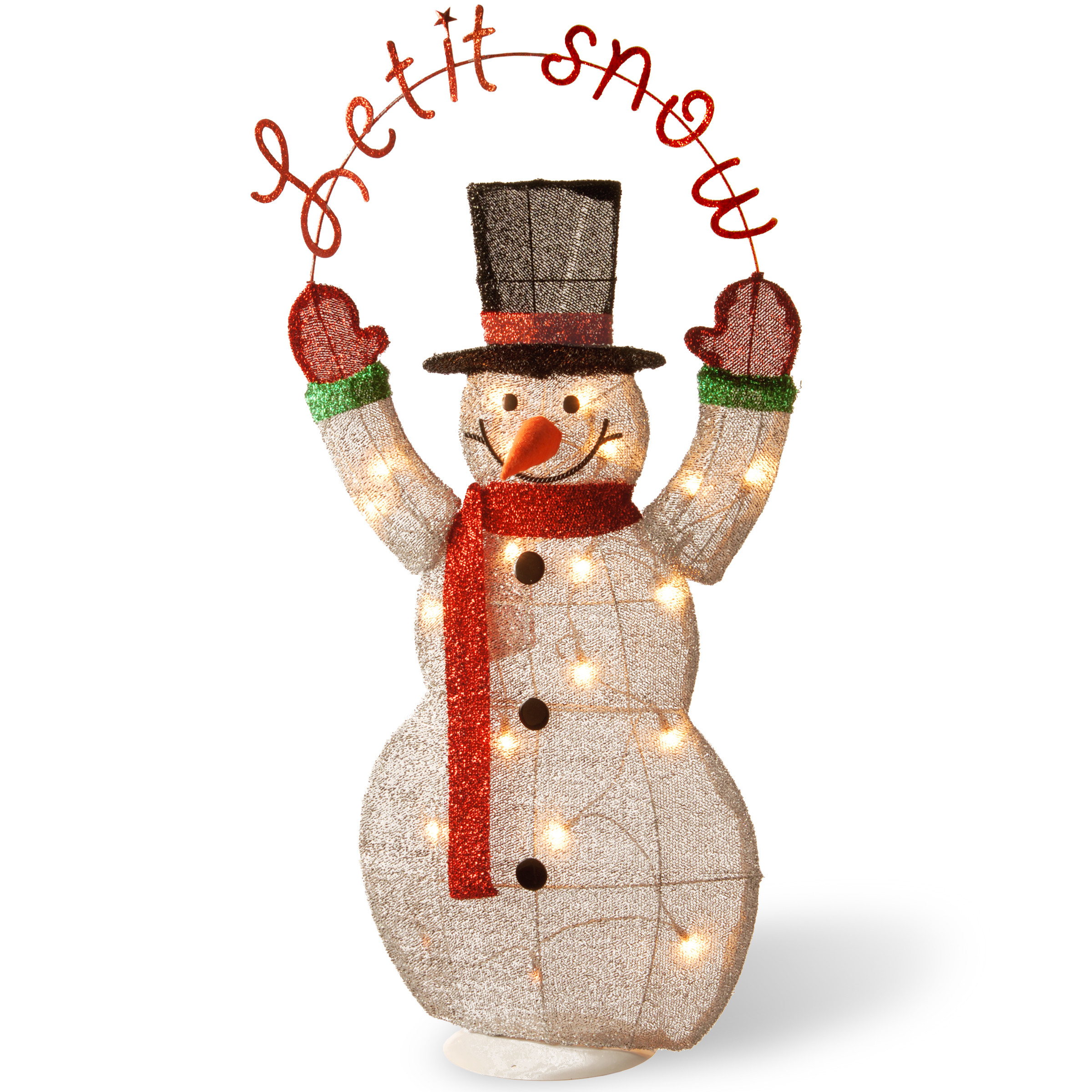 Lighted Christmas Decorations Indoor  Lighted Christmas Snowman Outdoor Indoor Decoration Yard