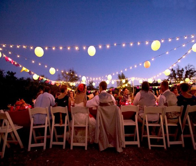 Lighting Ideas For Backyard Party  Outdoor Wedding Party Lighting Ideas – Sang Maestro