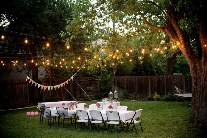 Lighting Ideas For Backyard Party  Elegant Ideas for A Christmas Themed Baby Shower