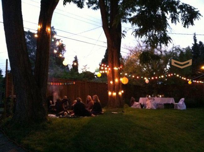 Lighting Ideas For Backyard Party  Best 25 Backyard party lighting ideas on Pinterest
