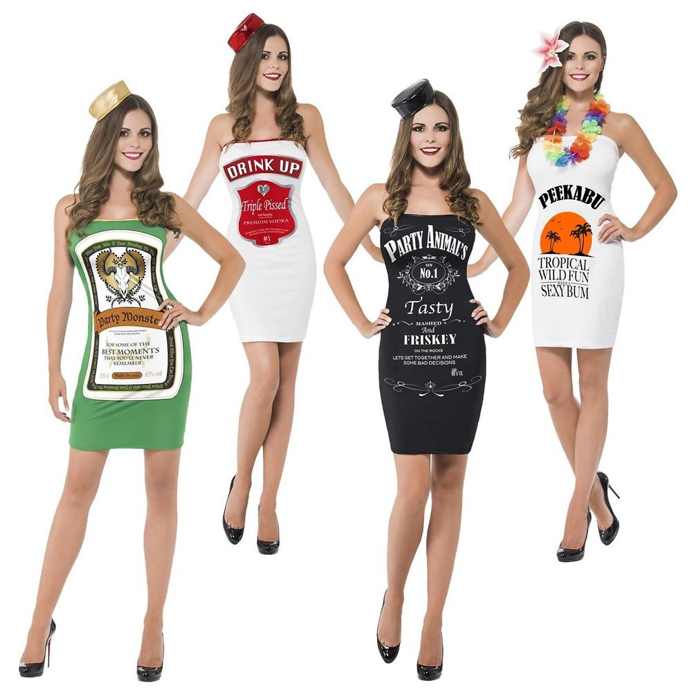 Liquor Cabinet Halloween Costumes  y Liquor Bottle Costumes Adult Shot Girl Alcohol Group