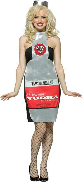 Liquor Cabinet Halloween Costumes  Adult y Vodka Bottle Costume