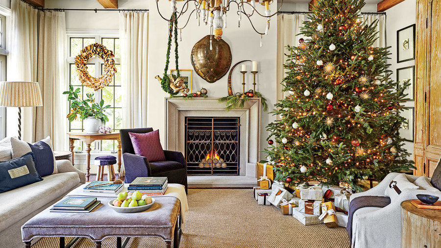 Living Room Christmas  Our Favorite Living Rooms Decorated for Christmas
