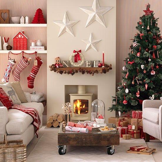 Living Room Christmas Decorations  Beautiful Christmas decorations for your living room