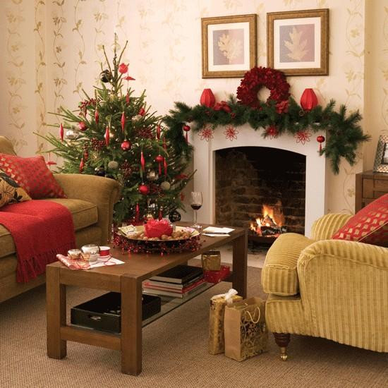 Living Room Christmas Decorations  Merry Christmas Decorating Ideas for Living Rooms and