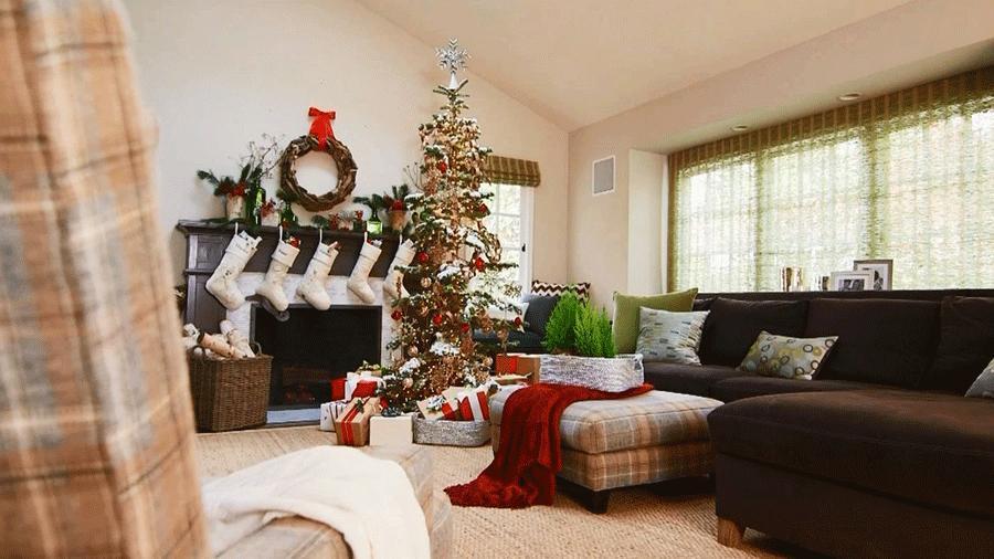 Living Room Christmas Decorations  Pretty Christmas Living Rooms
