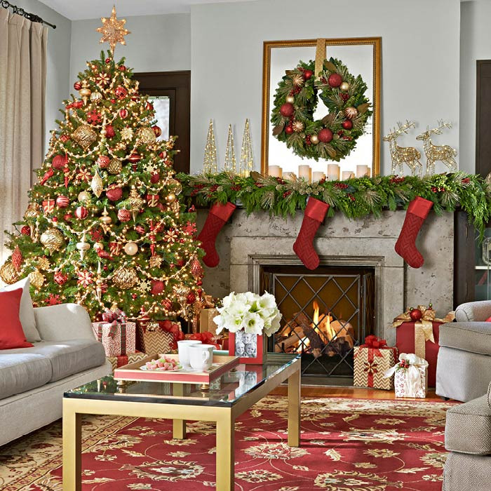 Living Room Christmas Decorations  Christmas Decor for Living Rooms