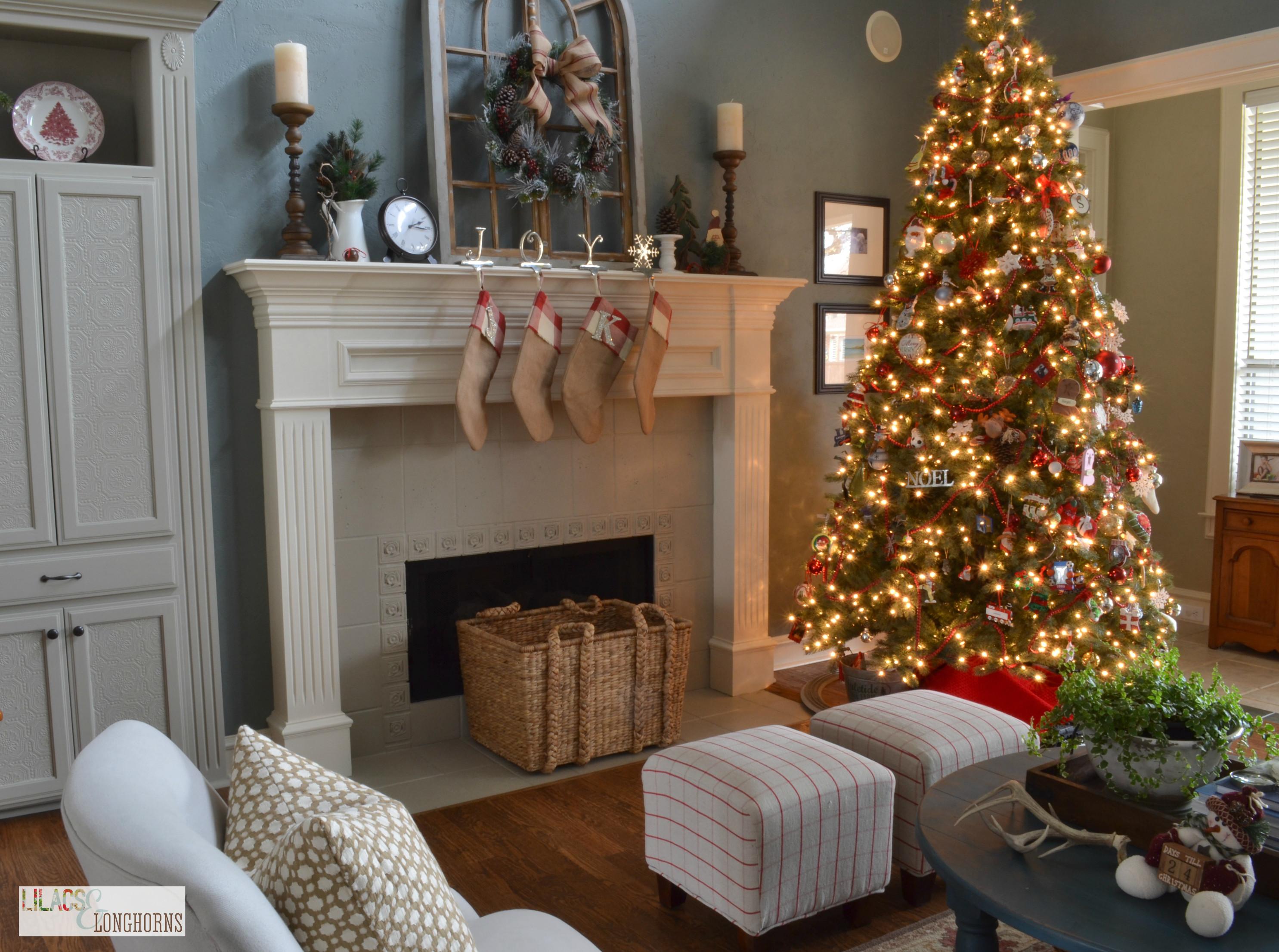 Living Room Christmas  Home Tours Christmas Cookies and Holiday Fun Lilacs and