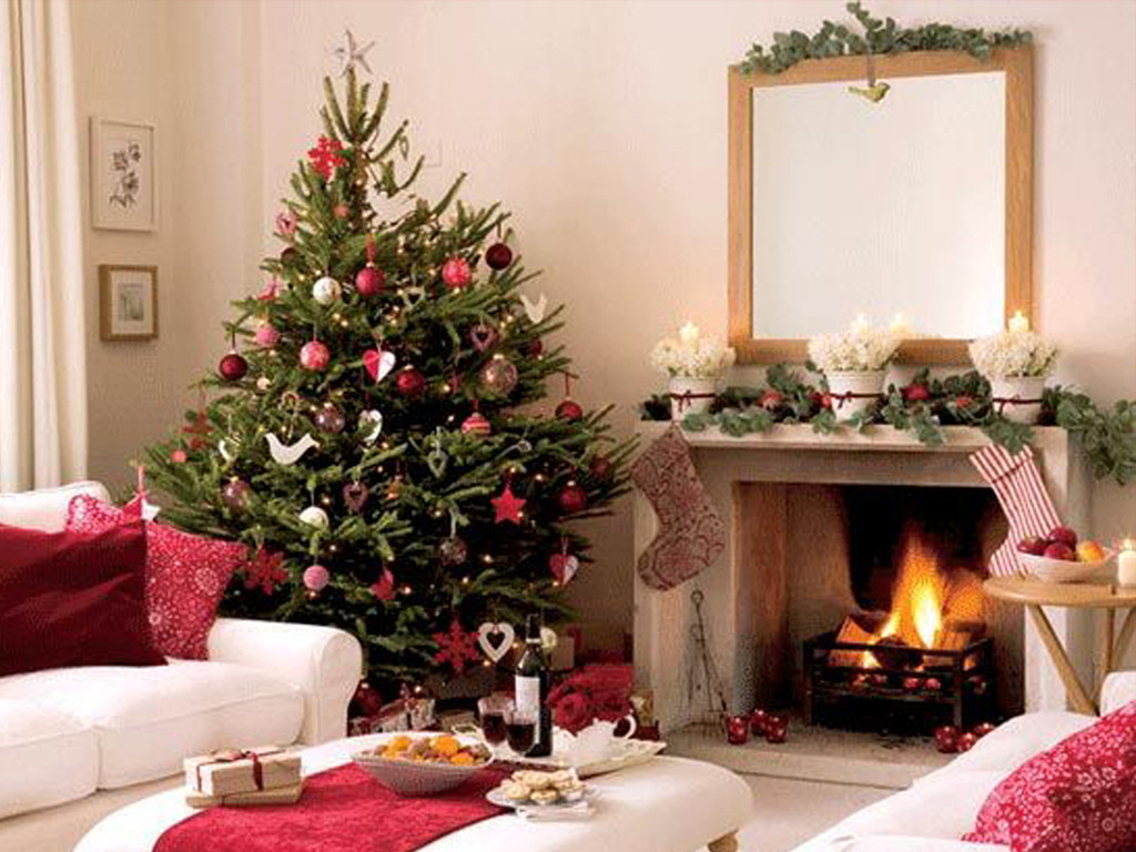 Living Room Christmas  White Xmas
