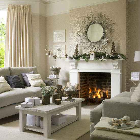 Living Room Christmas  33 Best Christmas Country Living Room Decorating Ideas