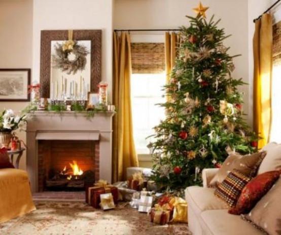 Living Room Christmas  55 Dreamy Christmas Living Room Décor Ideas DigsDigs