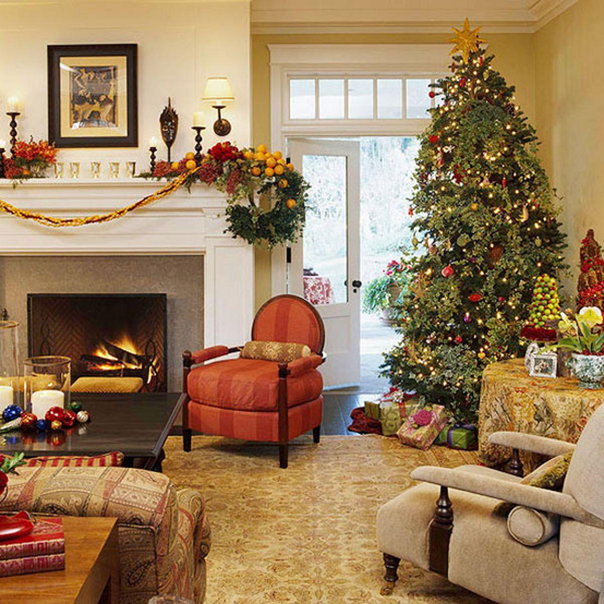 Living Room Christmas  Magical Christmas living room ideas