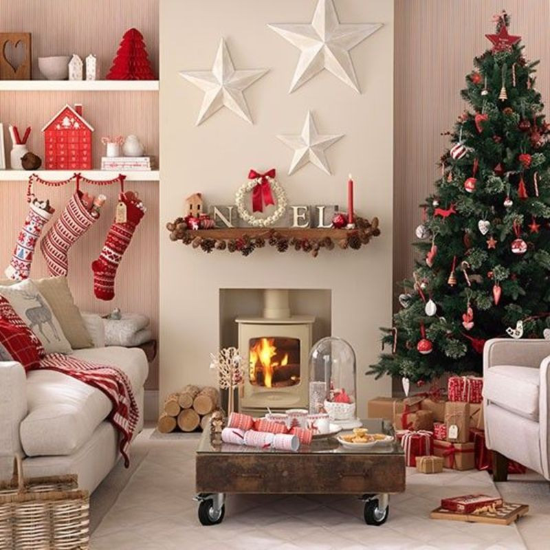 Living Room Christmas  50 Stunning Christmas Decorations For Your Living Room