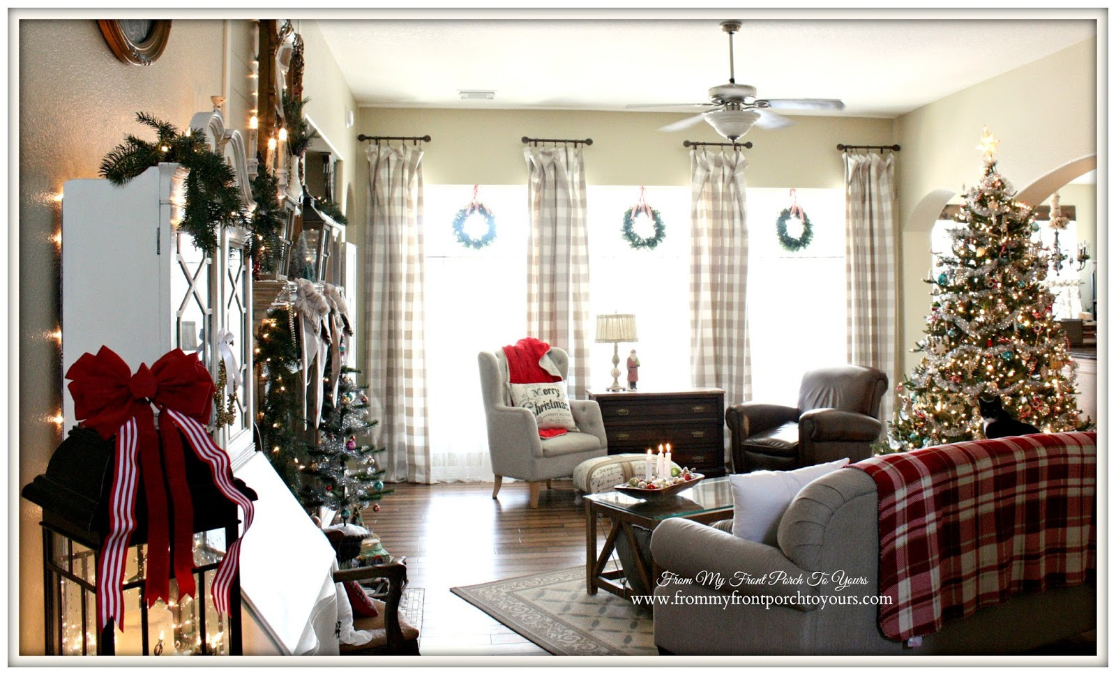 Living Room Christmas  From My Front Porch To Yours Farmhouse Vintage Christmas
