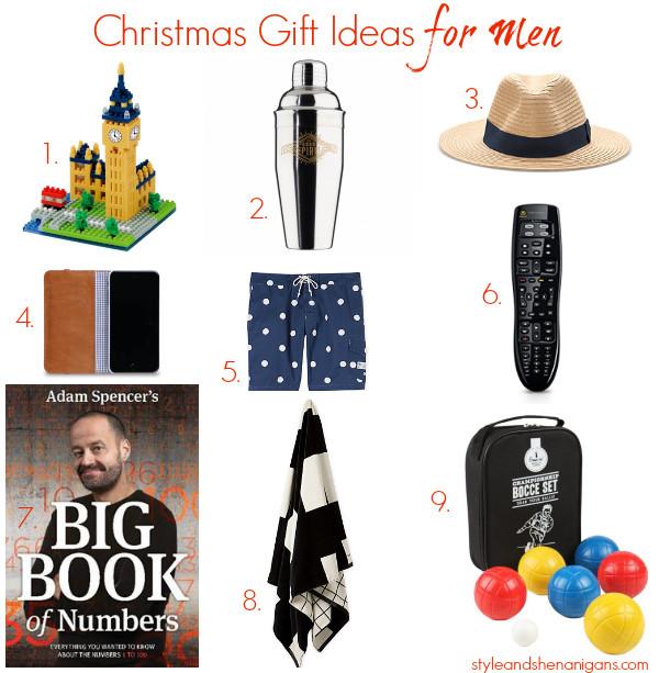 Mens Gift Ideas For Christmas  Christmas Gift Ideas for Men Style & Shenanigans