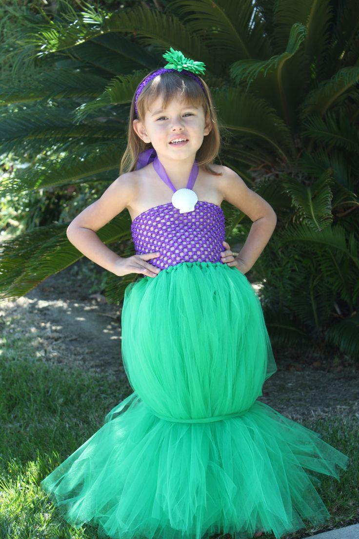 "Mermaid Costume DIY  Ariel ""The Little Mermaid"" Inspired Tutu Costume"