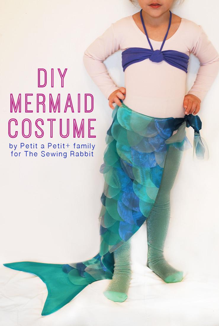 Mermaid Costume DIY  DIY Mermaid Costume The Sewing Rabbit