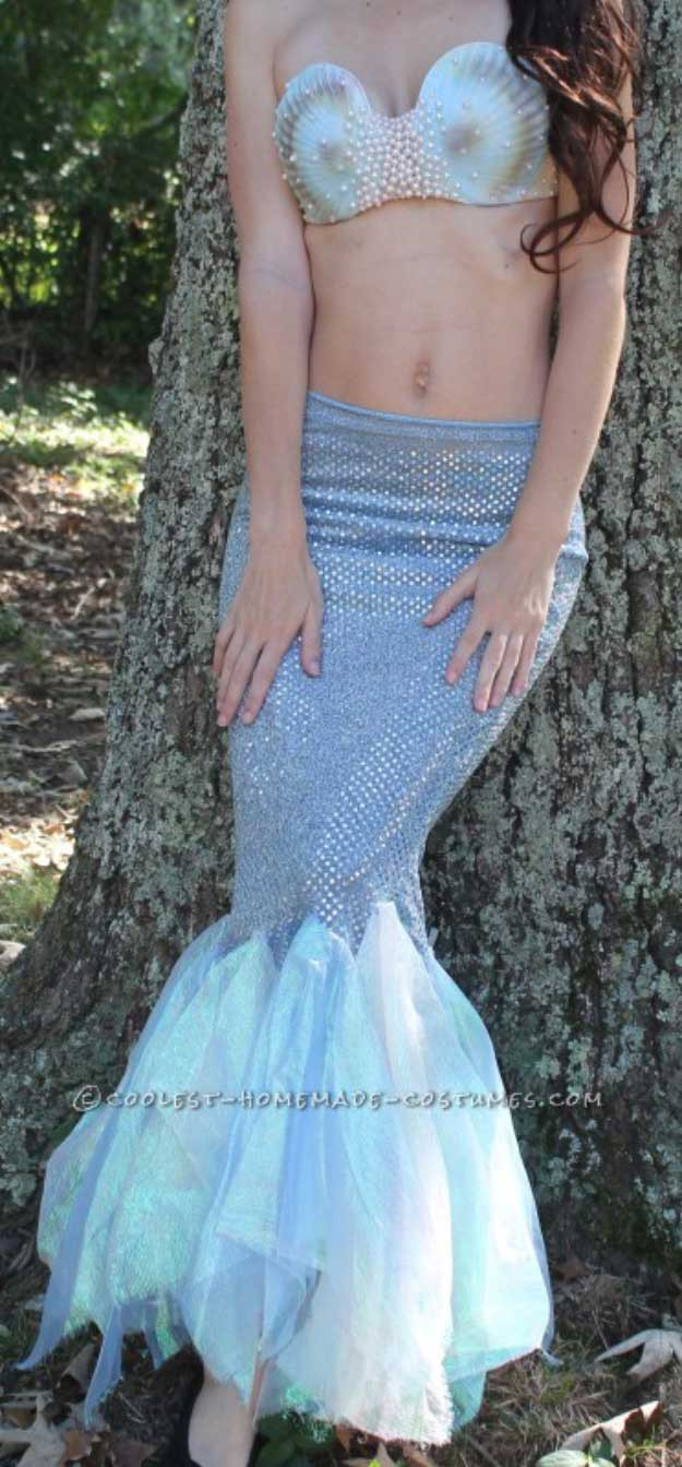 Mermaid Costume DIY  DIY Mermaid Tail Craft Ideas That You Can Actually Wear