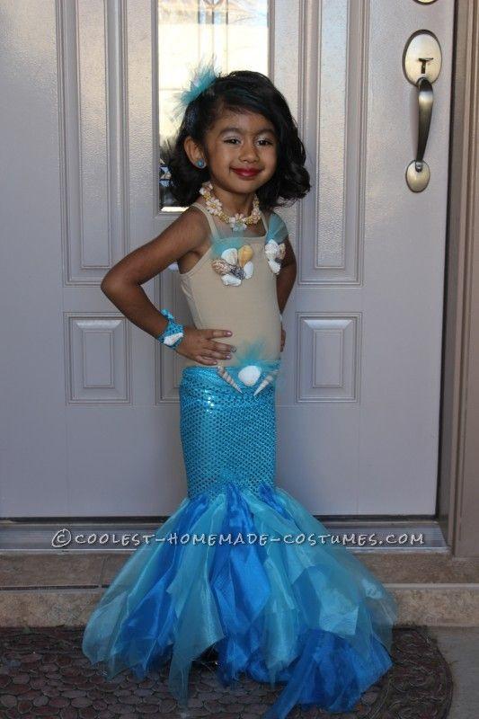 Mermaid Costume DIY  Pretty Little Mermaid Costume for a Toddler