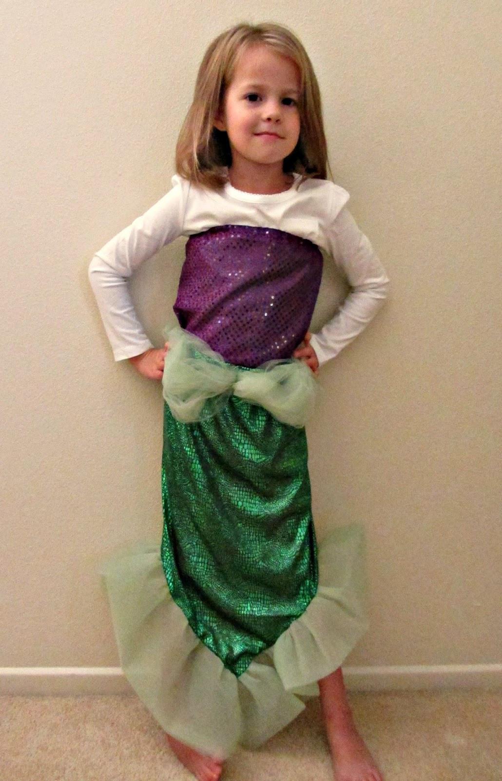 Mermaid Costume DIY  Chadwicks Picture Place Homemade Mermaid Costume