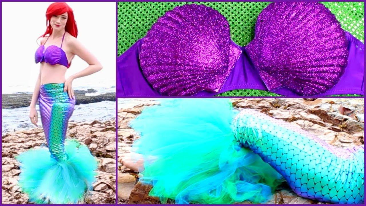 Mermaid Costume DIY  DIY Ariel Halloween Costume Disney s The Little Mermaid