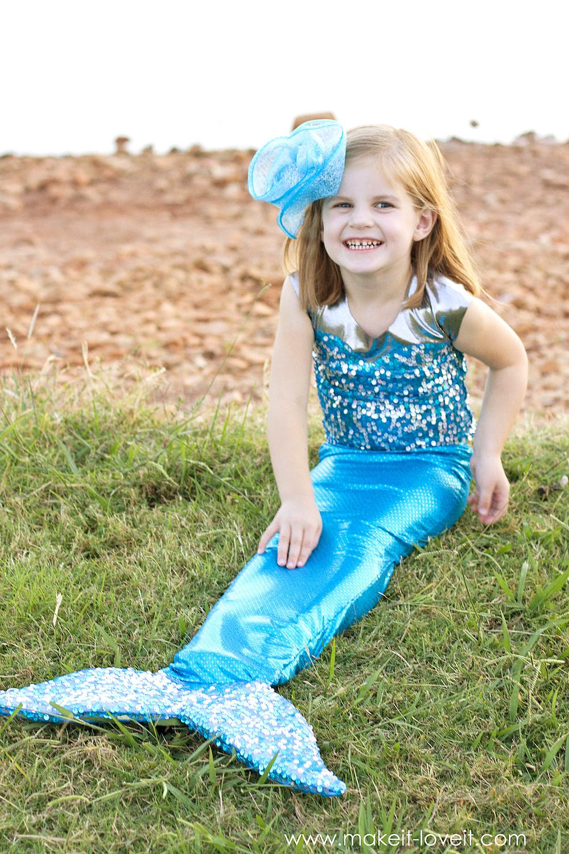 Mermaid Costume DIY  DIY Mermaid Costume with a REPOSITIONABLE Fin