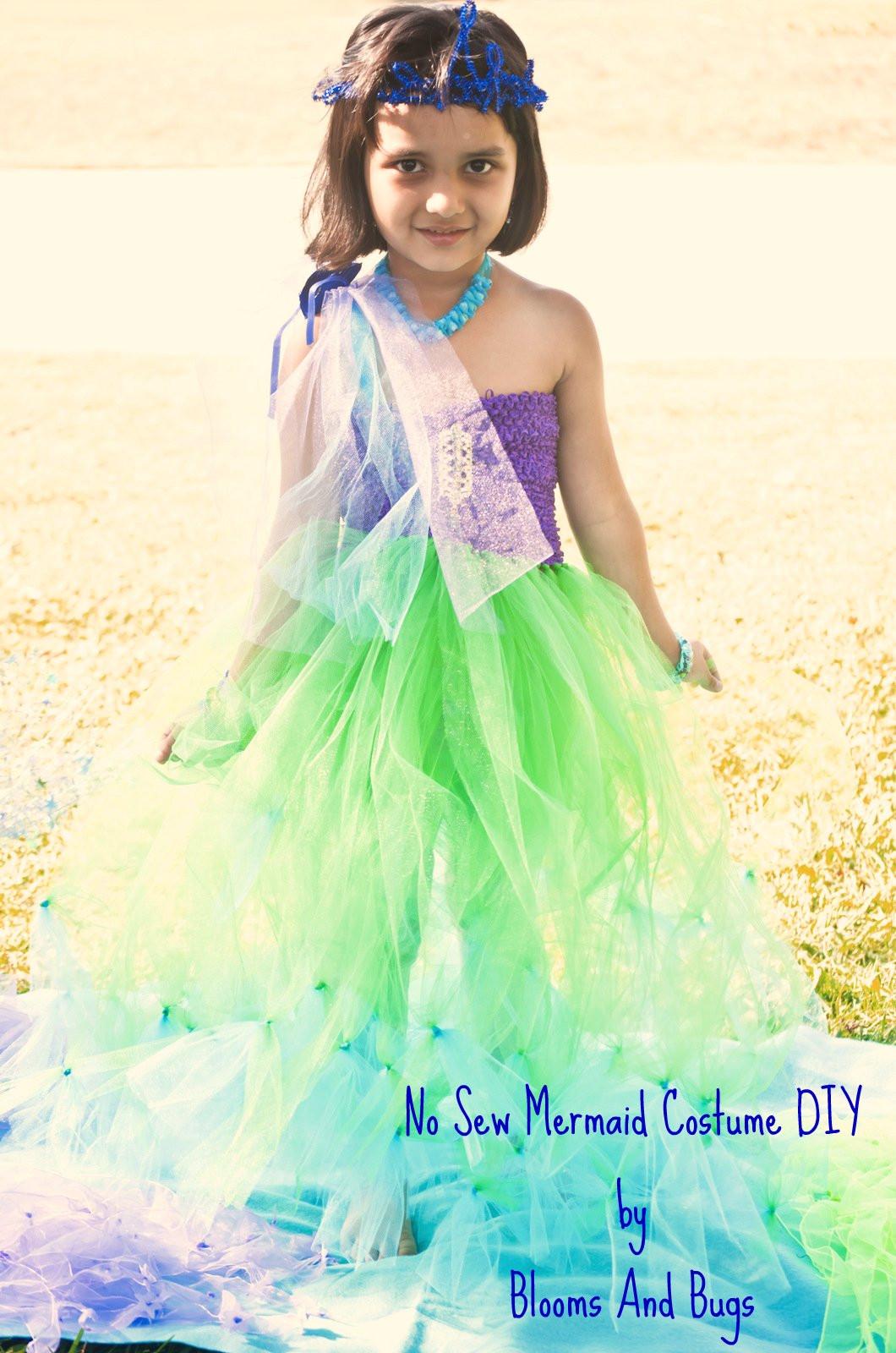 Mermaid Costume DIY  Blooms And Bugs No Sew Mermaid costume DIY