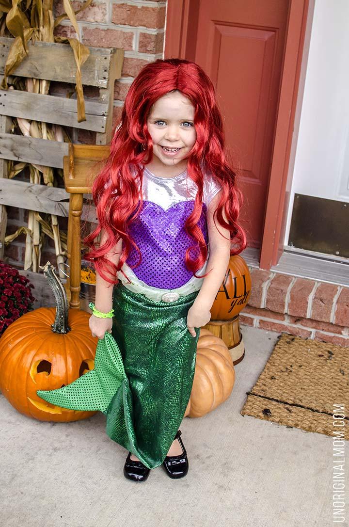 Mermaid DIY Costumes  DIY Little Mermaid and Flounder Costumes unOriginal Mom