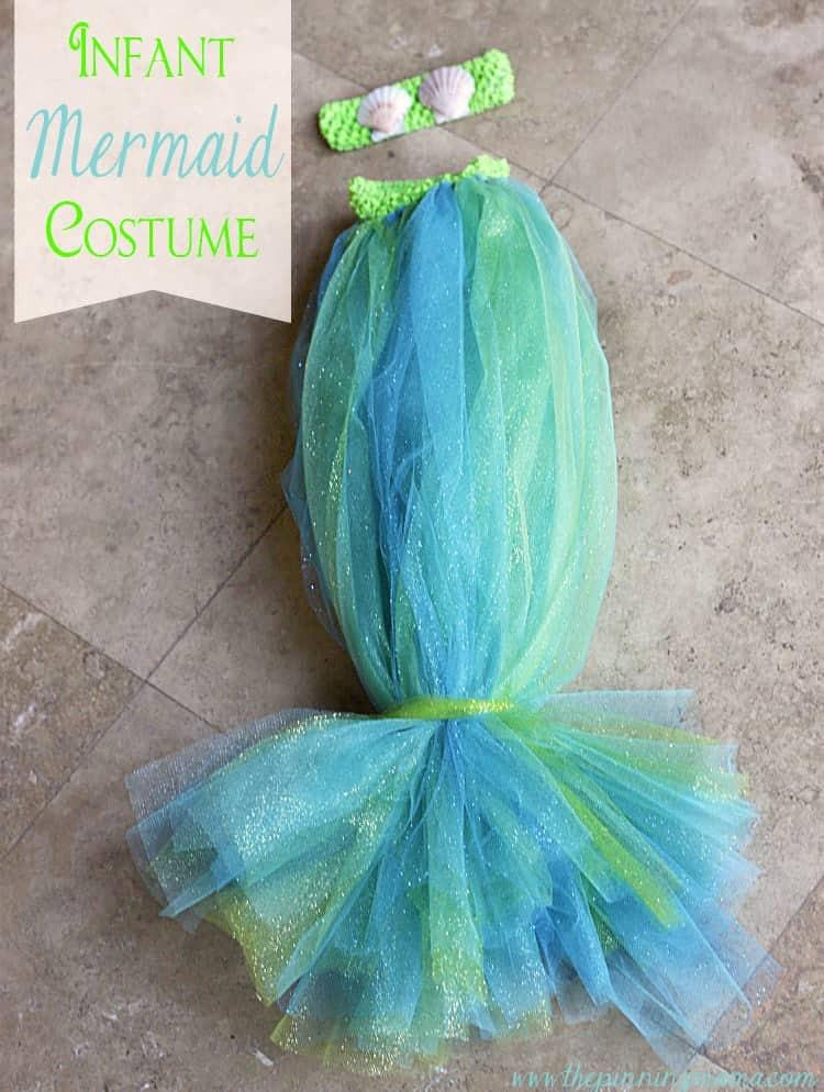Mermaid DIY Costumes  DIY Infant Mermaid Halloween Costume