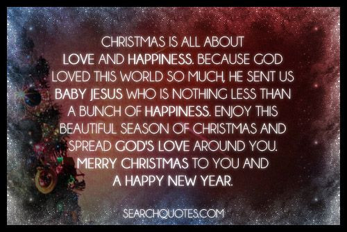 Merry Christmas Baby Quotes  Christmas is all about love and happiness Because God