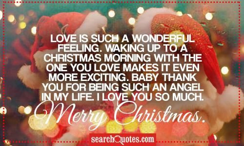 Merry Christmas Baby Quotes  Love Is Such A Wonderful Feeling s and