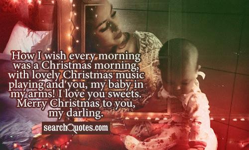 Merry Christmas Baby Quotes  Romantic Christmas Quotes