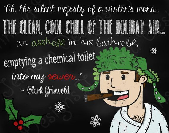 """National Lampoons Christmas Vacation Quotes  11""""x14"""" Christmas Vacation Movie Quote Printable"""