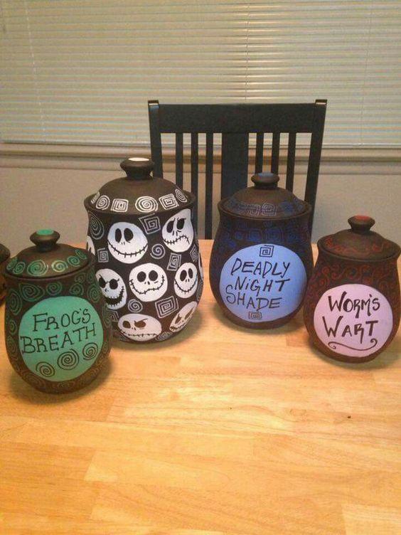 Nightmare Before Christmas Kitchen  Nightmare before Before christmas and Jars on Pinterest