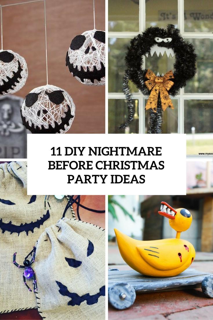 Nightmare Before Christmas Party Ideas  11 DIY Nightmare Before Christmas Halloween Party Ideas