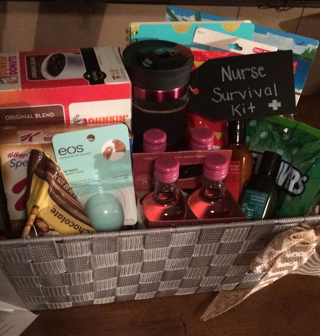 Nursing School Graduation Gift Ideas  Nurse survival kit Graduation t