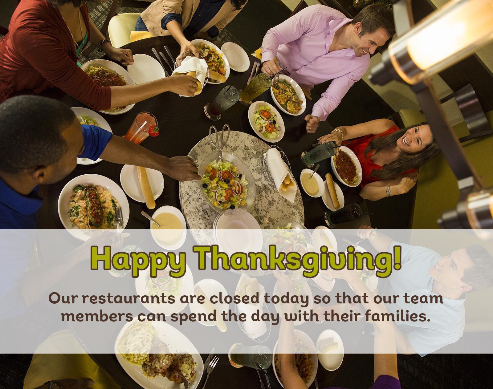 Olive Garden Thanksgiving  Embedded image permalink